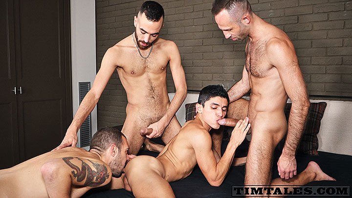 TimTales: Joaquin's Bareback Gang Bang