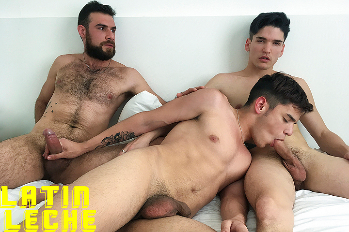 LatinLeche: Numero 100 - Hunk And His Boys