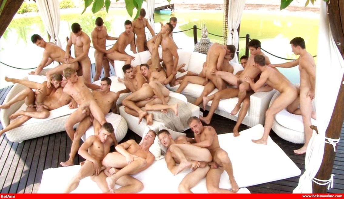 BelAmi-Classics: 24 Boys Bareback Orgy – Anal Sex